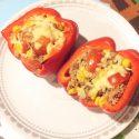 Gevulde paprika's voor kindjes