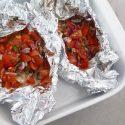 Kabeljauw pakketje uit de oven met tomaat